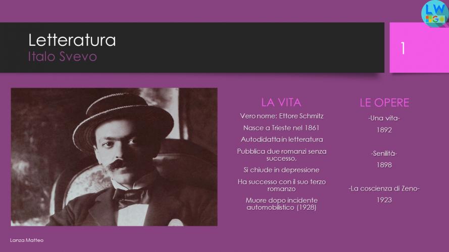 Italo Svevo e La Coscienza di Zeno (PowerPoint)
